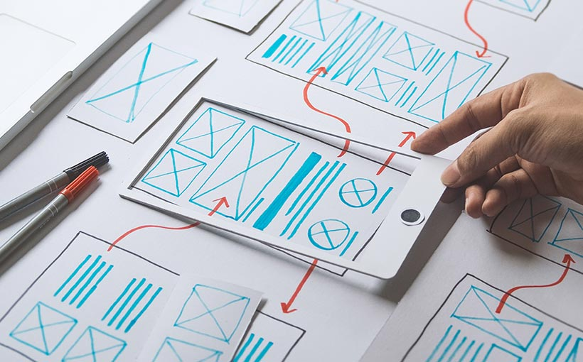 Person creating UX Concept